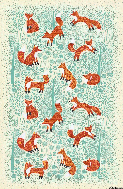 Foraging Fox - Tea Towel