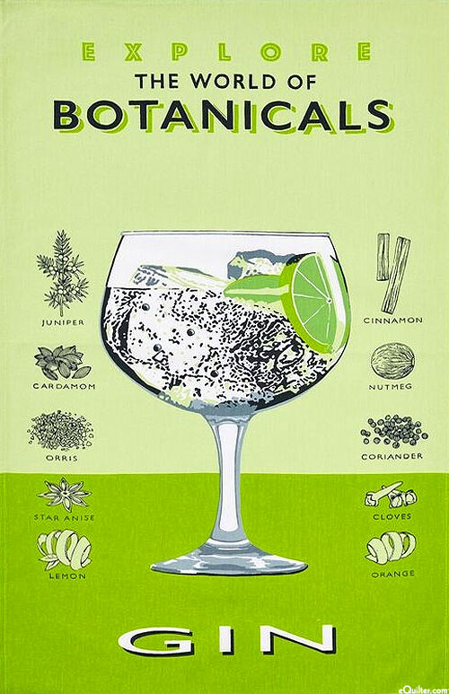 Gin The World of Botanicals - Tea Towel