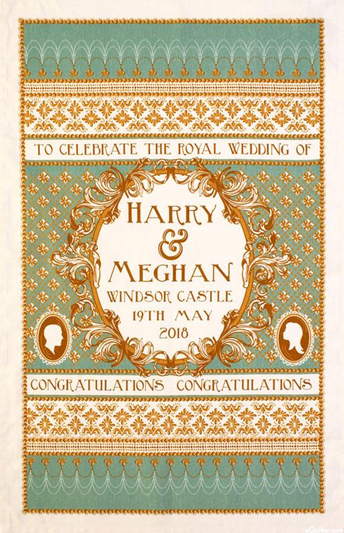 Royal Wedding Tea Towel - Harry & Meghan