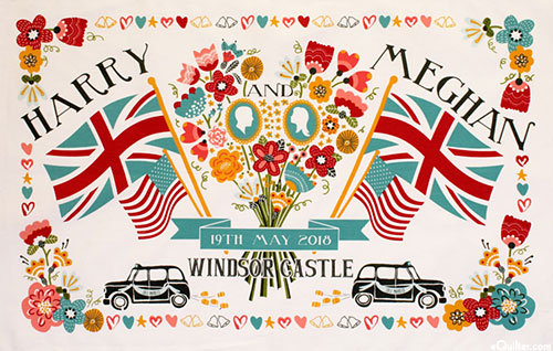 Royal Wedding Tea Towel - Flowers & Flags