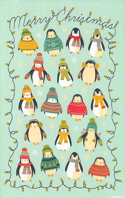 Penguin Lights - Tea Towel