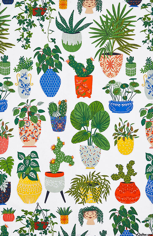 Potted Plants - Tea Towel