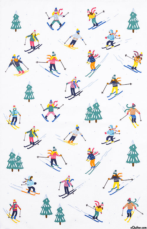 Ski Slopes - Tea Towel