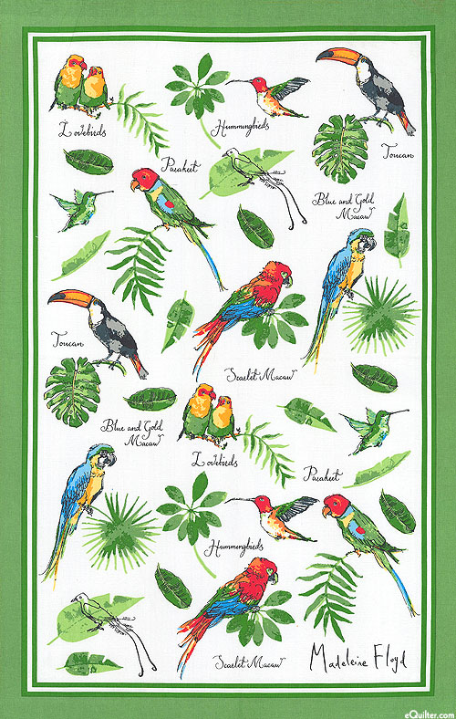 Tropical Birds - Tea Towel
