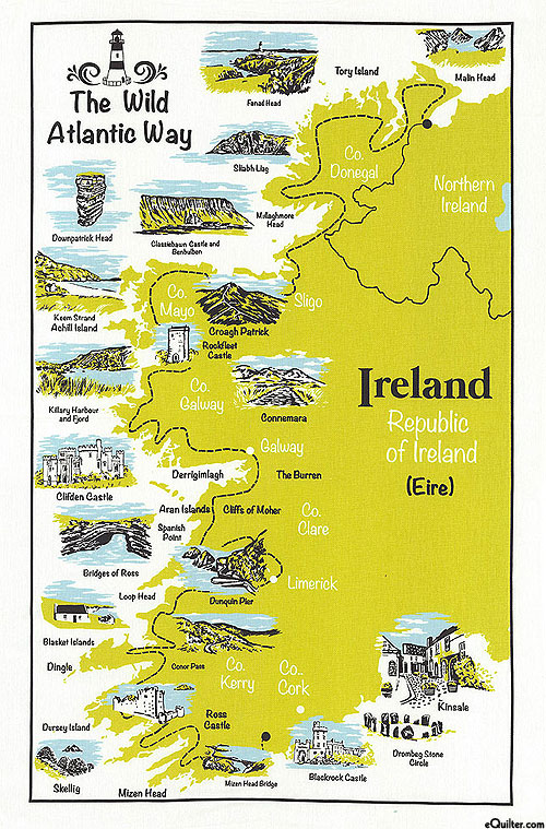 The Wild Atlantic Way - Tea Towel