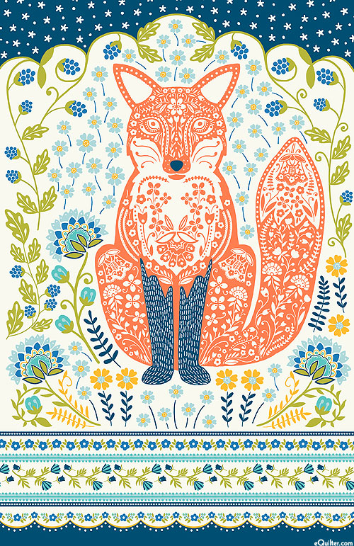 Woodland Fox - Tea Towel