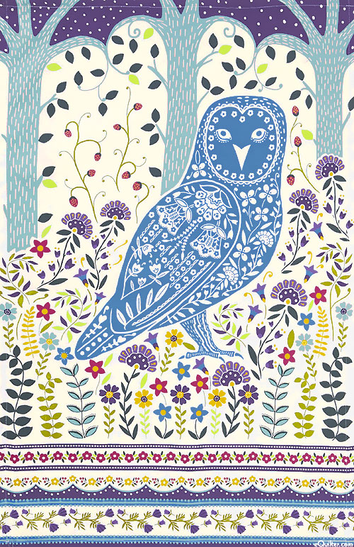 Woodland Owl - Tea Towel