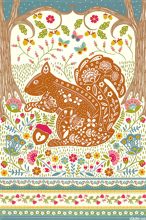 Woodland Squirrel - Tea Towel