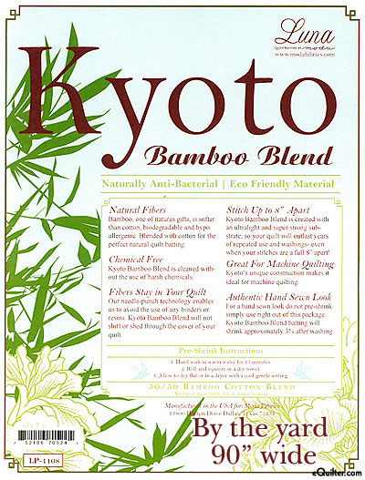 "Kyoto Batting - 50% Bamboo/50% Cotton - 90"" Wide"