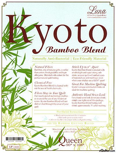 "Kyoto Batting - 50% Bamboo/50% Cotton - Queen 90"" x 108"""