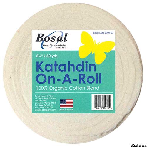 "Katahdin Batting On-A-Roll - 2 1/4"" X 50 Yards - ORGANIC"