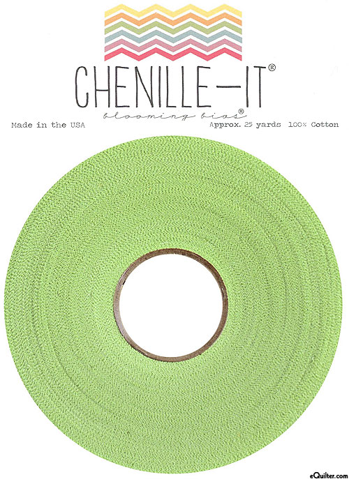 """Chenille-It Blooming Bias - Lime Green - 3/8"""" Wide"""