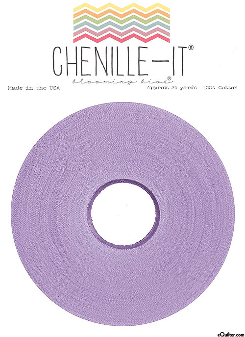 """Chenille-It Blooming Bias - Lilac Purple - 3/8"""" Wide"""