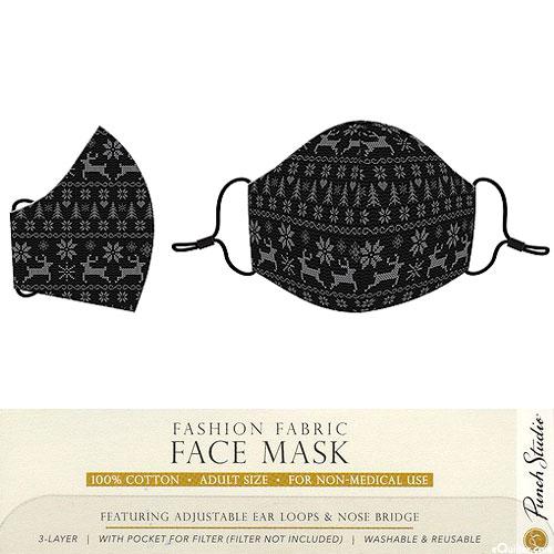 Fashion Fabric Face Mask - Scandinavian Reindeer