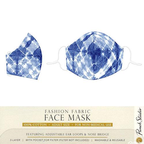 Fashion Fabric Face Mask - Indigo