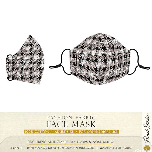Fashion Fabric Face Mask - Houndstooth