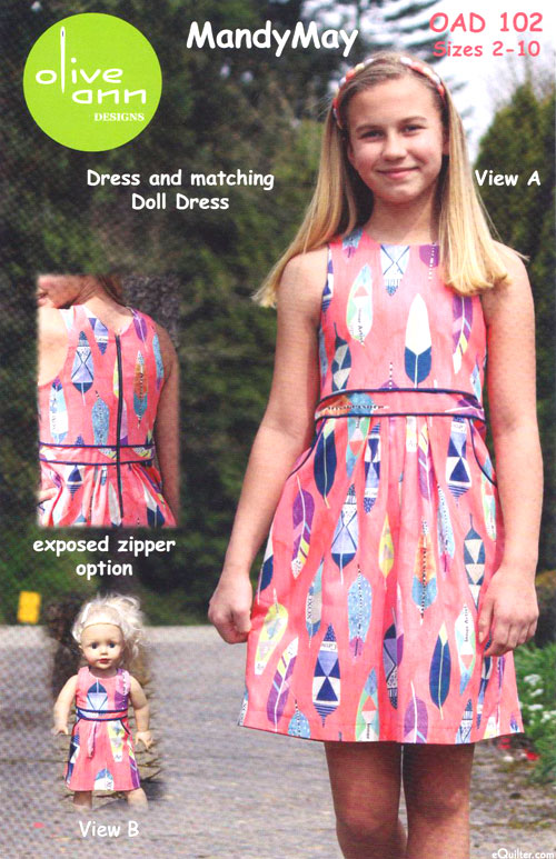Mandy May Dress - Pattern by Olive Ann Designs