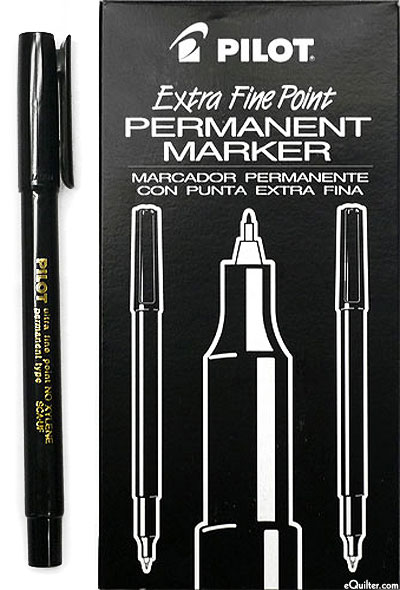 Pilot Extra Fine Permanent Marker - Black