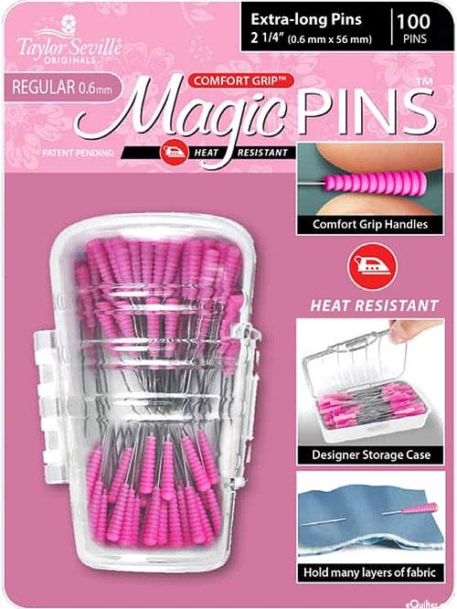 Comfort Grip Magic Extra-Long Pins - 100 Count