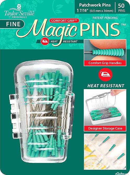 Comfort Grip Magic Patchwork Pins - Fine - 50 Count