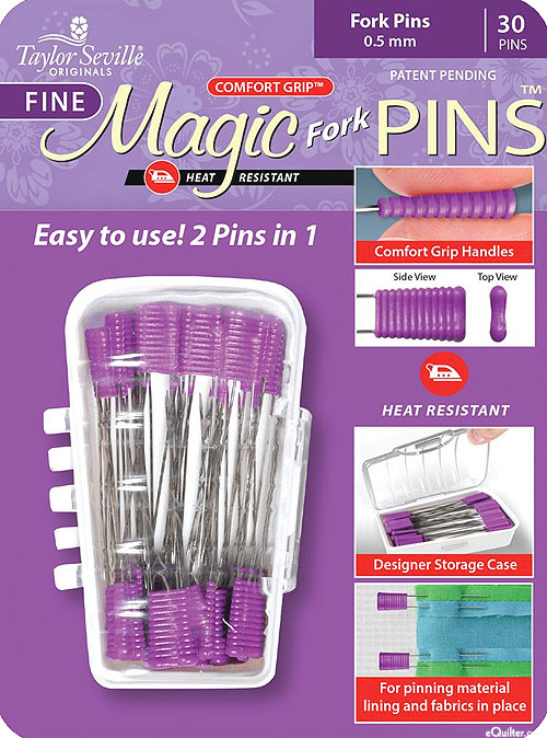 Comfort Grip Magic Fork Pins - Fine - 30 Count