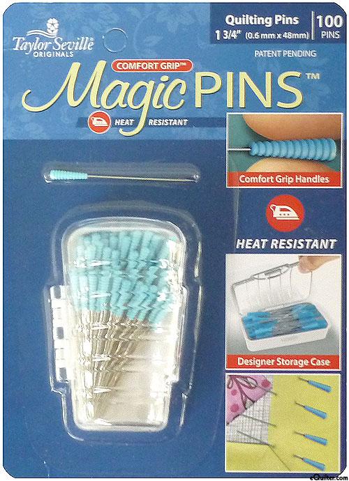 Comfort Grip Magic Quilting Pins - 100 Count