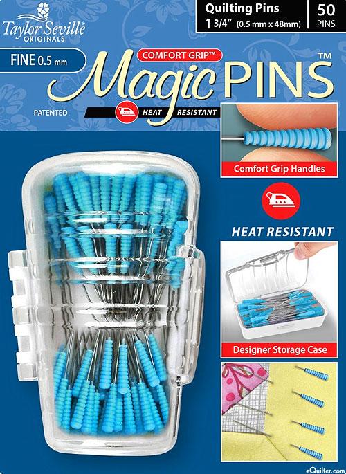 Comfort Grip Magic Quilting Pins - Fine - 50 Count