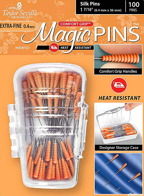Comfort Grip Magic Silk Pins - Extra Fine - 50 Count