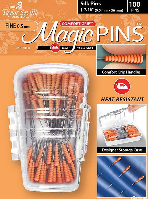 Comfort Grip Magic Silk Pins - 100 Count