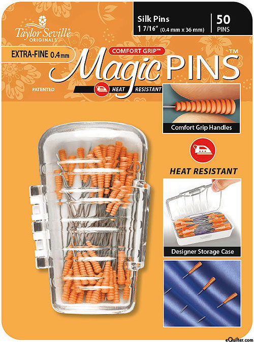Comfort Grip Magic Silk Pins - Extra Fine - 50 Count