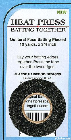 Heat Press Batting Together - Fusible Tape - Black