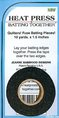Heat Press Batting Together - Fusible Tape - Black