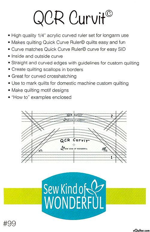 QCR Curvit Ruler - by Sew Kind of Wonderful