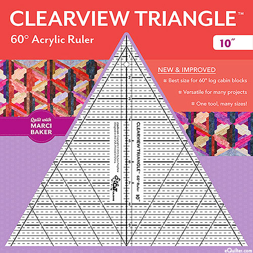 Clearview Triangle Ruler 10""