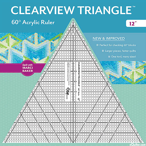 Clearview Triangle Ruler 12""