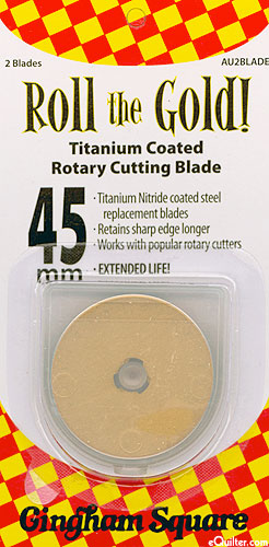 Gold Titanium 45mm Rotary Blades