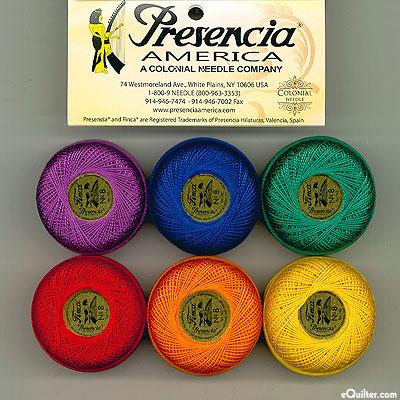 Presencia Finca Perle Cotton Size 8 Sampler - Crayon