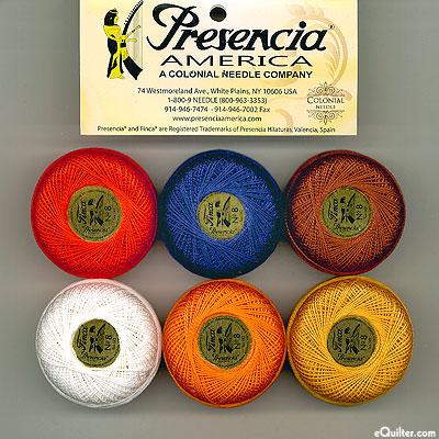 Presencia Finca Perle Cotton Size 8 Sampler - Imari Sashiko