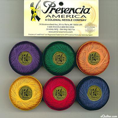 Presencia Finca Perle Cotton Size 8 Sampler - Jewel