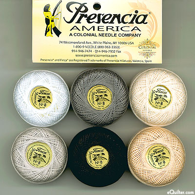 Presencia Finca Perle Cotton Size 8 Sample - Versatile Neutrals