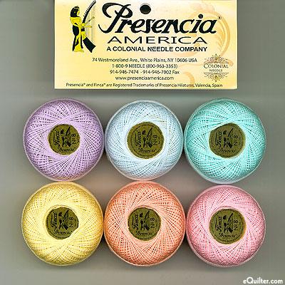 Presencia Finca Perle Cotton Size 8 Sampler - Pastel