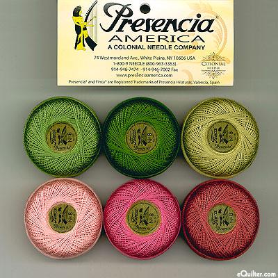 Presencia Finca Perle Cotton Size 8 Sampler - Yuletide