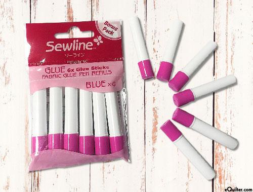 Sewline Fabric Glue Pen Refills - Blue - 6 Pack