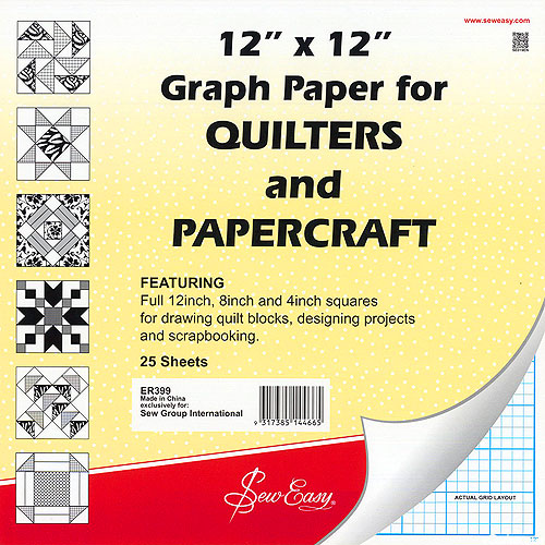 """12"""" x 12"""" Graph Paper for Quilters"""