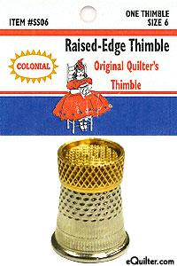 Raised-Edge Thimble - Size 6