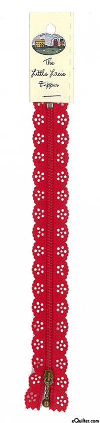 "The Big Lacie Zipper - Red - 8"""