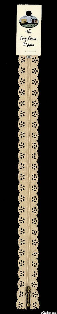 "The Big Lacie Zipper - Taupe - 12"""