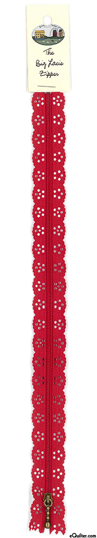 The Big Lacie Zipper - Red - 12""