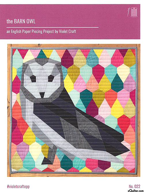 equilter the barn owl english paper piecing pattern by violet craft