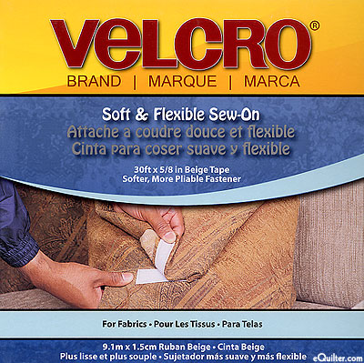 Velcro Soft & Flexible Tape - Beige